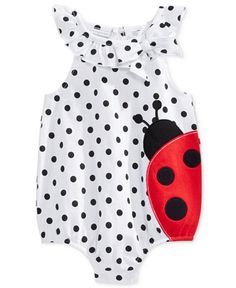 First Impressions Baby Girls' Ladybug Dot Sunsuit, Only at Macy's