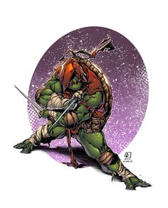 Raphael, another of the TMNT in all his coolness too! Again, pretty dynamic, awesome lines by the talented marvelmania