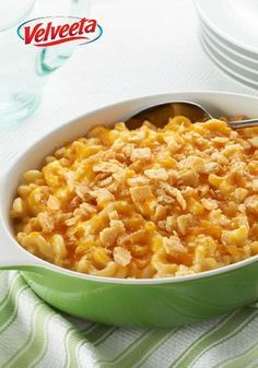 VELVEETA® Down-Home Macaroni & Cheese – If you're looking for a mac and cheese recipe with the perfect balance of cheesy and creamy, the search ends with this dinner table ready casserole dish.