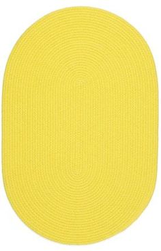 Yellow Rug Braided Solid Color, by Oval Soft Kids/Nursery Carpet Yellow Rug, Yellow Area Rugs, Mellow Yellow, Beige Area Rugs, Bright Yellow, Color Yellow, Tropical Rugs, Tropical Decor, Braided Area Rugs