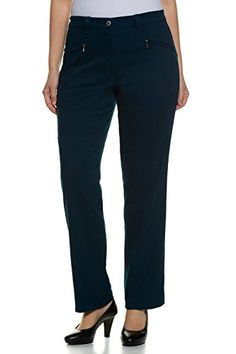 Ulla Popken Womens Plus Size Straight Leg Cotton Stretch Pants Dark Petrol 20P 624193 78 >>> You can find more details by visiting the image link.
