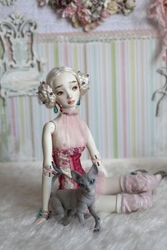 Vega by Marina Bychkova Clay Dolls, Blythe Dolls, Ball Jointed Dolls, Marina Bychkova, Enchanted Doll, Found Object Art, Architecture Tattoo, Funny Tattoos, Creepy Dolls