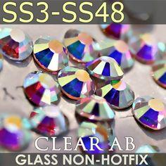 Dark sapphire flatback strass loose gems taille 2,3,4,5,6mm aaaa qualité hotfix