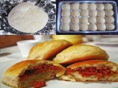 Receita Pão de batata recheado com calabresa e catupiry
