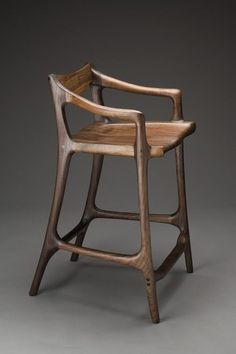 Maloof-style Sculpted Bar Stool