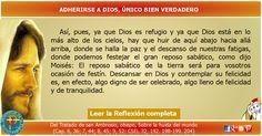 MISIONEROS DE LA PALABRA DIVINA: REFLEXIÓN - ADHERIRSE A DIOS, ÚNICO BIEN VERDADERO...