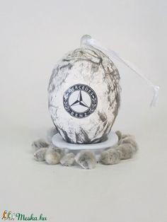 Mercedes húsvéti tojás, autó rajongói meglepetés tojás, nem csak húsvétra, névnapra, szülinapra, gyermeknapra. (Biborvarazs) - Meska.hu Subaru, Mazda, Snow Globes, Benz, Ferrari, Toyota, Decoupage, Decor, Decoration