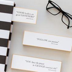 Sugar Paper Bookmark Quotes for Mark & Graham! I love!