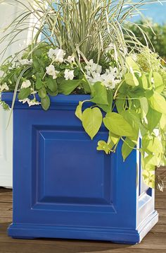 Create some curb-appeal magic with our classic Nantucket square planter beside your door—each has all the good looks of a raised-panel wood planter, but will never crack, chip or peel. Wood Planters, Self Watering, Ceramic Lantern, Curb Appeal, Durable Furniture, Outdoor Spaces, Nantucket, House Exterior, Garden Inspiration