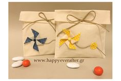 CHRISTENING FAVOR ΜΠΟΜΠΟΝΙΕΡΑ ΒΑΠΤΙΣΗΣ ΑΝΕΜΟΜΥΛΟΣ Christening Favors, Event Ideas, Burlap, Gift Wrapping, Gifts, Gift Wrapping Paper, Presents, Hessian Fabric, Wrapping Gifts