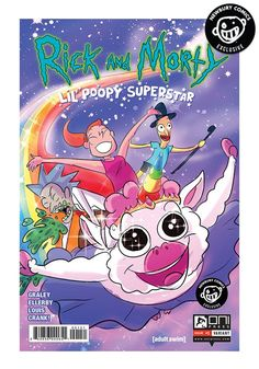 A Newbury Comics exclusive variant cover comic. (W) Sarah Graley (A) Sarah Graley, Marc Ellerby (CA) Rashad Doucet A new comic miniseries based on Dan Harmon and Justin Roiland's hilarious [adult swim