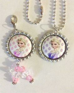 Frozen Elsa Bottle Cap Pendant and Bottle Cap Charm #Charm