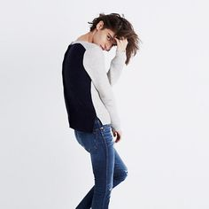 Made of our favorite supersoft yarn, this easy, textural sweater has buttons all the way down the back. Tip: Leave a few undone to show off your shirttails. <ul><li>Cotton/viscose/nylon.</li><li>Hand wash.</li><li>Import.</li></ul>