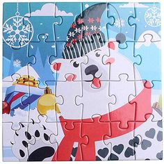 AmazonSmile: 24 Pieces Children's Puzzle Christmas Snowman DIY Puzzle Handmade Toy (F): Home & Kitchen Diy Snowman, Christmas Snowman, Educational Christmas Gifts, Childrens Christmas, Gifted Education, Puzzles For Kids, Student Gifts, Handmade Toys, Jigsaw Puzzles