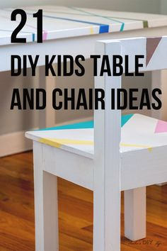 DIY Kids Table and Chair ideas - easy simple woodworking projects and ideas! DIY Kids Table and Chair ideas - easy simple woodworking projects and ideas! Woodworking Projects That Sell, Woodworking For Kids, Woodworking Joints, Woodworking Furniture, Diy Furniture, Woodworking Plans, Woodworking Shop, Unique Woodworking, Woodworking Crafts