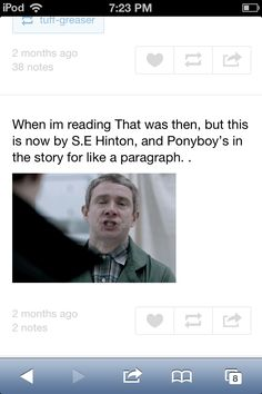 This was my exact reaction. It was depressing. Nothing Gold Can Stay, Stay Gold, Amazing Books, Good Books, Lets Do It, Let It Be, Best Authors, Old Shows, Cute Actors