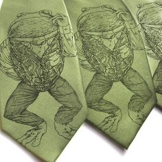 Pretentious Frog Tie Sage, $25, now featured on Fab.