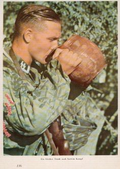 SS soldier drink