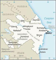Map of Azerbaijan. © CIA World Factbook