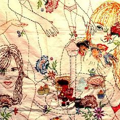 embroidered figures - Orly Cogan