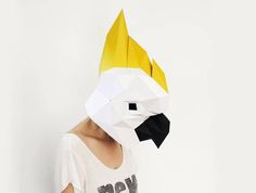 Cockatoo Mask Bird Mask Paper Mask Animal Mask DIY