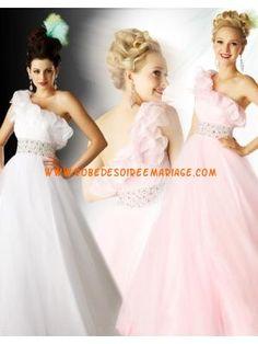 Belle robe de cocktail 2013 asymétrique organza
