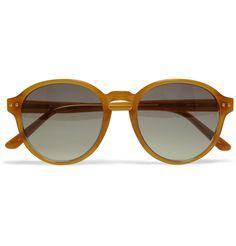 Linda Farrow LuxeRound-Frame Acetate Sunglasses