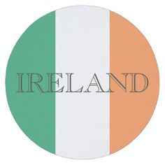 Ireland Flag Letters Round Coaster - #customizable create your own personalize diy