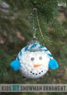 30 diy christmas tree ornament tutorials christmas pinterest make a kids snowman ornament homemade christmas craftssnowman christmas ornamentsdiy solutioingenieria Choice Image