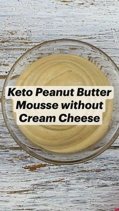 Ketogenic Diet Menu, Ketosis Diet, Ketogenic Recipes, Diabetic Recipes, Low Carb Recipes, Healthy Recipes, Peanut Butter Mousse, Low Carb Peanut Butter, Low Carb Deserts