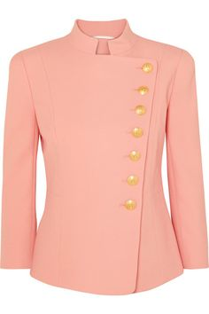 Pierre Balmain Double-breasted Fitted Blazer In Pink Red Blazer, Blazer Jacket, Blazer Fashion, Fashion Outfits, Balmain Blazer, Balmain Clothing, Pink Jacket, Fashion Sewing, Shirt Blouses