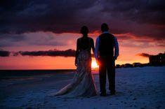 Gorgeous sunset beach wedding in destin florida
