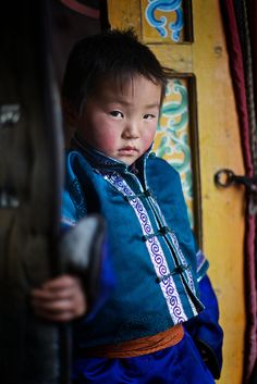 Mongolian child, Tov aimag, Mongolia