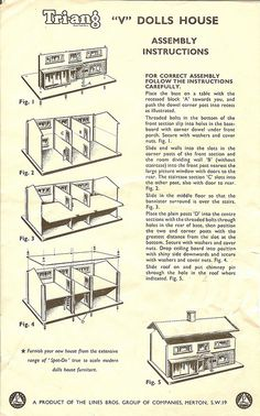 Triang V house instructions
