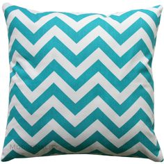 Designer Pillows True Turquoise Chevron Pillow Cover Zippered Pillow... (132.880 IDR) ❤ liked on Polyvore featuring home, home decor, throw pillows, decorative pillows, home & living, home décor, silver, turquoise toss pillows, chevron throw pillows and turquoise pillow shams