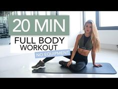 20 Minute FULL BODY Workout (No Equipment) Sometimes you simply don't have time for the gym or are traveling and want to get a workout in. When time is lacking bodyweight circuit training works well. More from my minute AB WORKOUT Full Body Workout No Equipment, Full Body Dumbbell Workout, Fat Burning Cardio Workout, Sixpack Workout, Body Workout At Home, Strength Workout, 20 Min Workout, Workout Routines For Beginners, Workout Videos