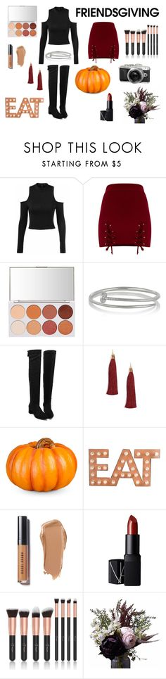 """""""Dinner with friends"""" by laura15fm on Polyvore featuring Kenneth Jay Lane, Forever 21, Improvements, Retrò, Dot & Bo, Bobbi Brown Cosmetics, NARS Cosmetics, Abigail Ahern and friendsgiving"""