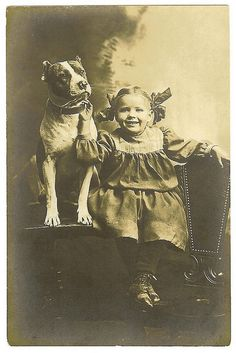 Pitbulls were know as the 'nanny dog' Animals For Kids, Animals And Pets, Cute Animals, Pitbull Terrier, Bull Terriers, Dog Photos, Dog Pictures, Pitbulls, Nanny Dog