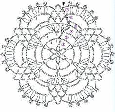 Watch The Video Splendid Crochet a Puff Flower Ideas. Phenomenal Crochet a Puff Flower Ideas. Crochet Snowflake Pattern, Crochet Doily Diagram, Crochet Snowflakes, Crochet Doily Patterns, Crochet Chart, Thread Crochet, Crochet Designs, Crochet Doilies, Crochet Flowers