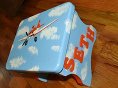 Disney Planes Theme Step Stool / Chair. Cute And Personalized With Your Childs…
