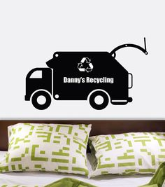 Custom Name Garbage Truck Vinyl Wall Decal Graphics By