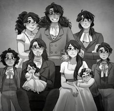 Hamilton Family~~~~ I always thought the guy in middle was Philip. I did some research on Hamilton kids and it said he had 8 kids. But in this picture there's Then I realized, Philip died. He's not in the picture cause he died << well fuck Fandoms, Hamilton Lin Manuel Miranda, Phillip Hamilton, Hamilton Angelica, Hamilton Eliza, Hamilton Drawings, Overwatch, Hamilton Comics, Hamilton Wallpaper