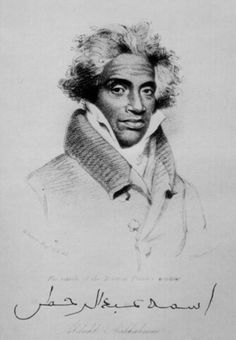 """In 1828,Abrahim Abdul Rahman ibn Sori(1762-1829) was set free by the order of the Secretary of State Henry Clay and President John Quincy Adams. He was born in Timbo, West Africa (in present day Guinea). He was known as the """"Prince of Slaves."""" He was a Fulbe from the land of Futa Jallon. Abrahim left Futa in 1774 to study in Mali at Timbuktu."""