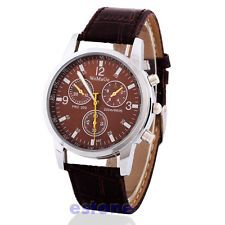 Men's Luxury Trendy Crocodile Faux Leather Analog Watch Watches New