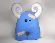 BooBoo Monster Plush Friend READY TO SHIP by SaintAngel on Etsy