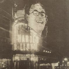 Harold Lloyd Movie Theatre Marquee For The Kid Brother 1927 In Kansas