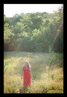 happy girl in a field :D