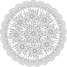 Printable Coloring Sheets - Page 6 Detailed Coloring Pages, Pattern Coloring Pages, Mandala Coloring Pages, Coloring Book Pages, Mandala Design, Mandala Art, Free Adult Coloring, Printable Coloring Sheets, Circle Art