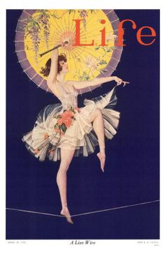 Life magazine April 20, 1922. Another cover by FX Leyendecker whose brother JC, was one of the best known illustrators of the day.