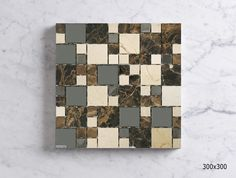 MSCES234801CW  MARRON/CREMA/S.STEEL COMBO MOSAIC Mosaic Tiles, Wall Tiles, Mosaics, Sheet Sizes, Tile Floor, Marble, Stainless Steel, Flooring, Quilts